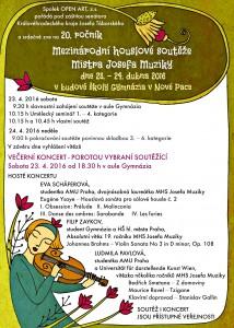 20. ročník Mezinárodní Houslové soutěže Mistra Josefa Muziky - program
