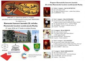 Slavnostní koncert Kvasiny 2016 - program